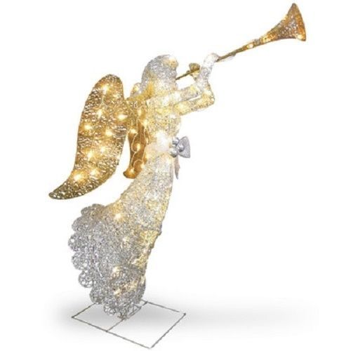 lighted christmas angel lawn decoration holiday yard ornament pre lit in out new - Christmas Angel Yard Decorations