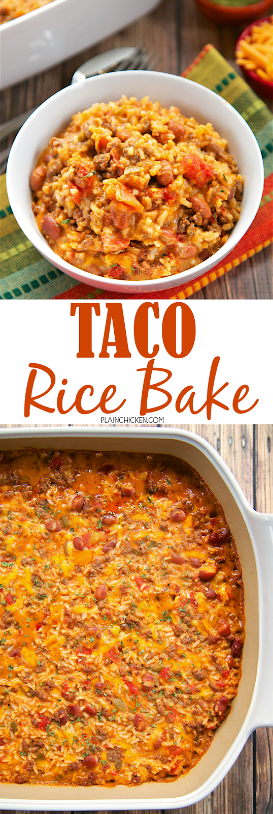 Taco Rice Bake Full Meal Recipes Meat Dinners Rotel Recipes