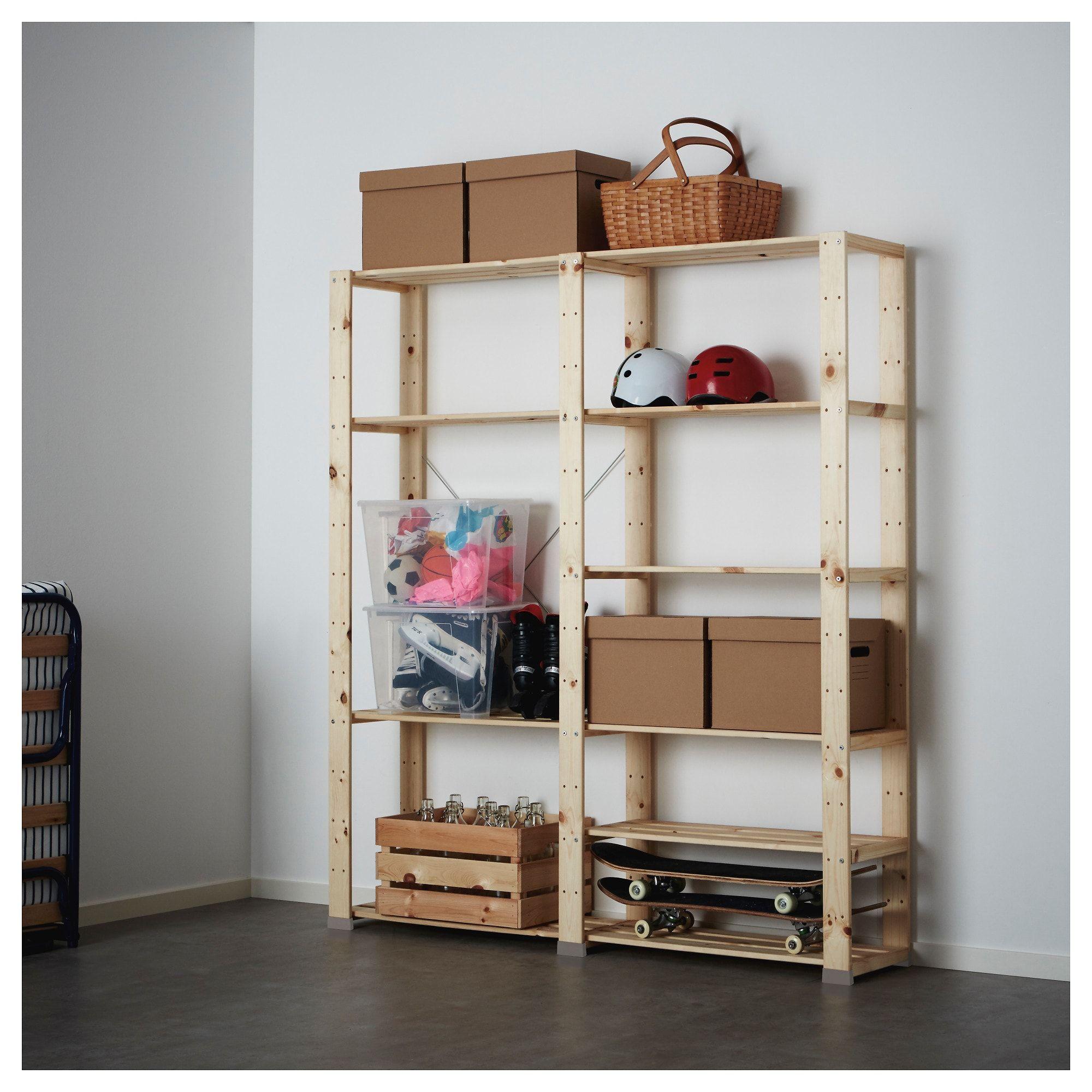 hejne 2 section shelving unit, softwood in 2018 | apt | pinterest