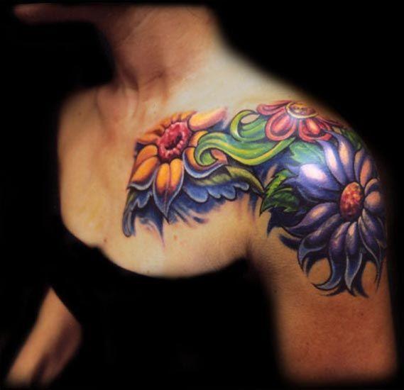 26 Flower Chest Tattoo Ideas In 2020 Flower Tattoo Shoulder Front Shoulder Tattoos Tattoos