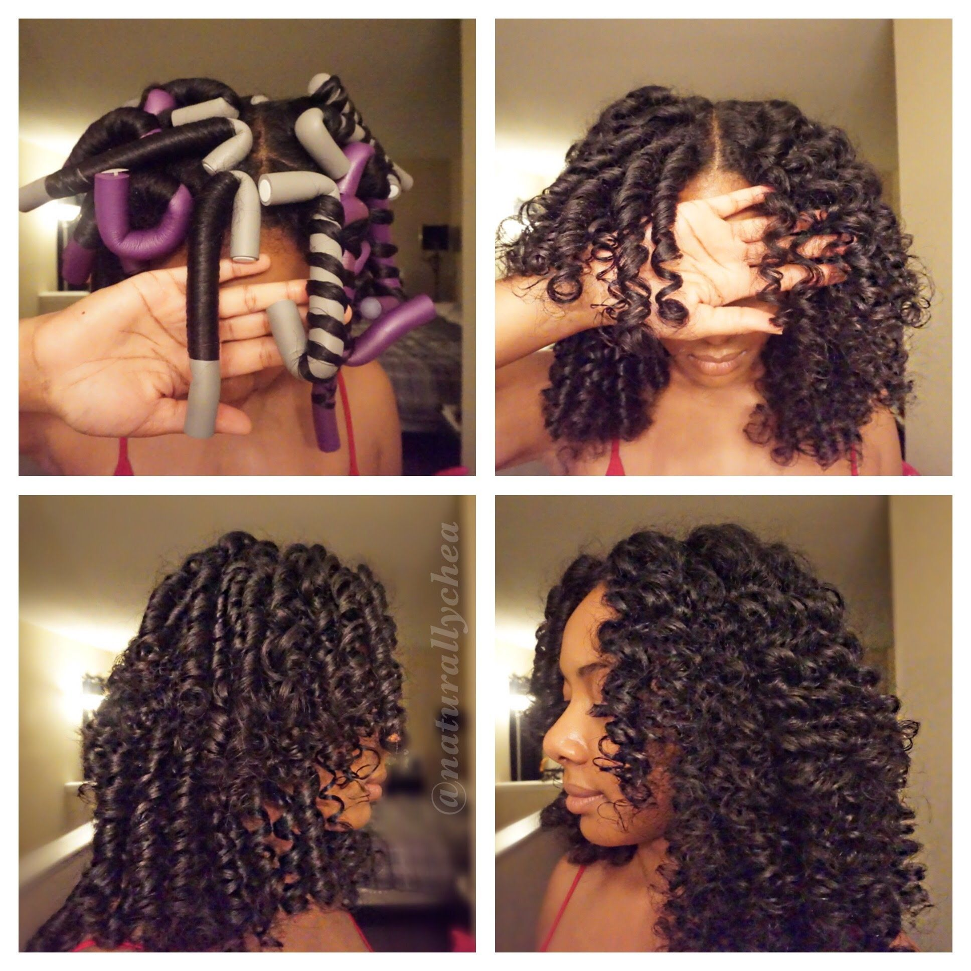 Coiffure Facile Cheveux Crépus How To Roll Flexi Rods On Natural Hair Hair Cheveux