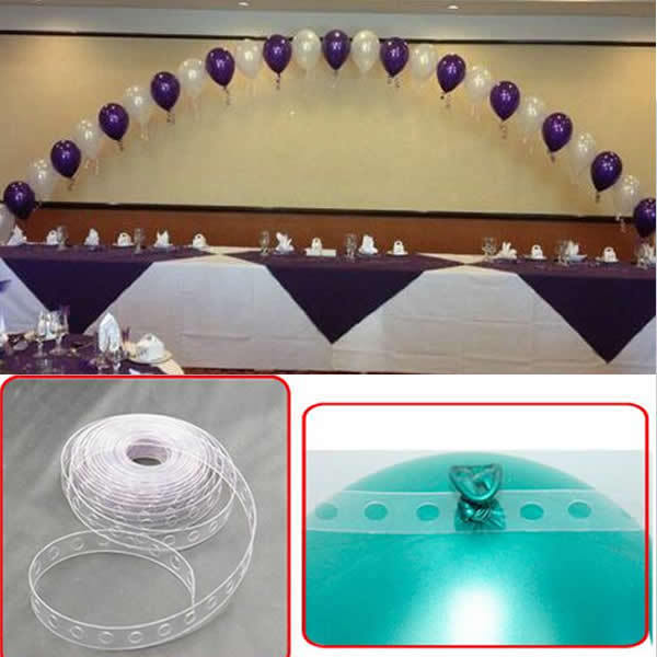 Balloon Decoration Strip Connect Chain Plastic DIY Tape Wedding Party Supplies