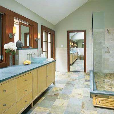 Editors Picks Our Favorite Green Bathrooms Blue Bathroom Bathroom Design Floor Design