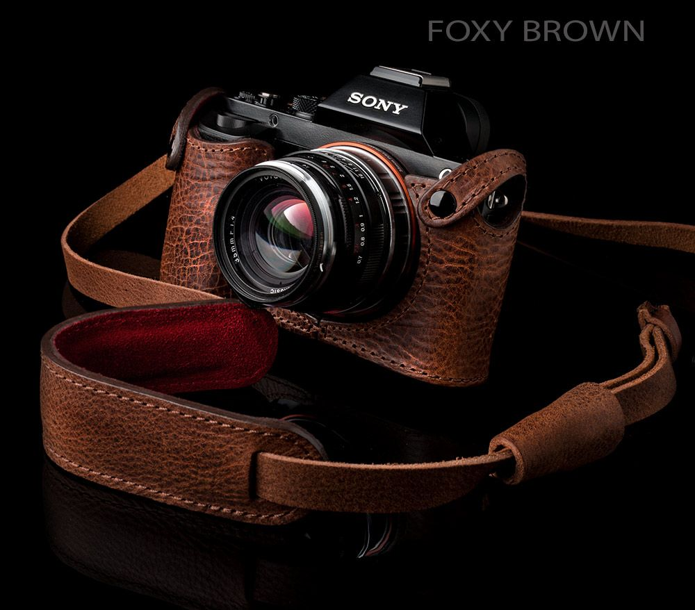 Angelo Pelle Sony A7R Foxy Brown Leather Case - Sony A7/A7R Get ...