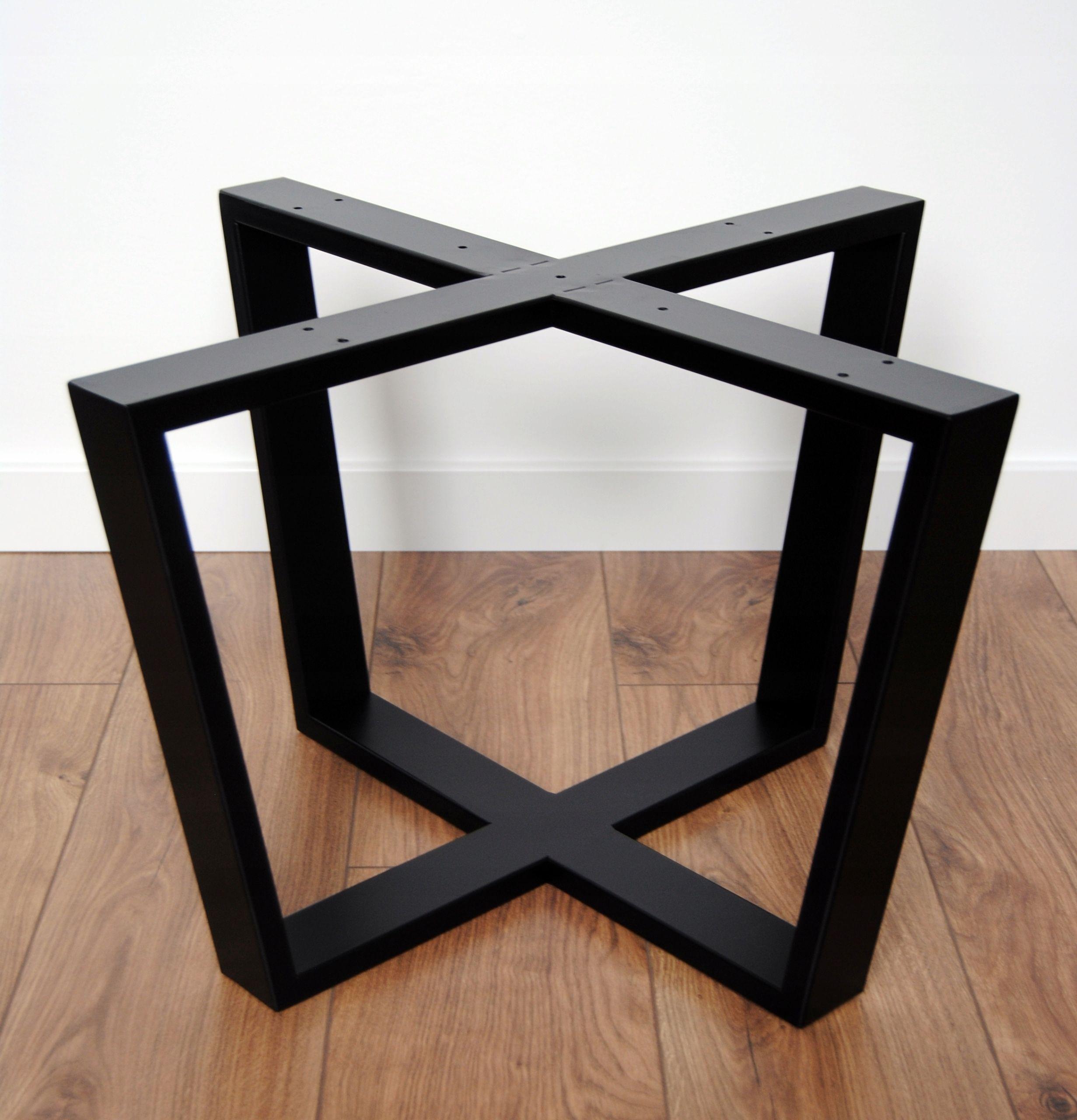 Nogi Metalowe Podstawa Pod Stolik Okrągły Stół