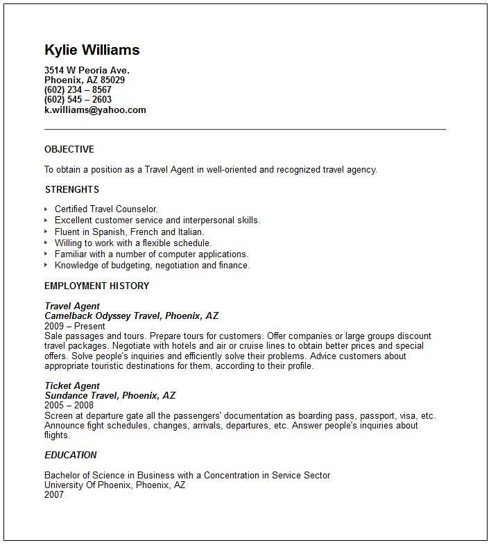 Sample Airlines Ticketing Agent Cv Free Resume Templates Professional Resume Samples Customer Service Resume Resume