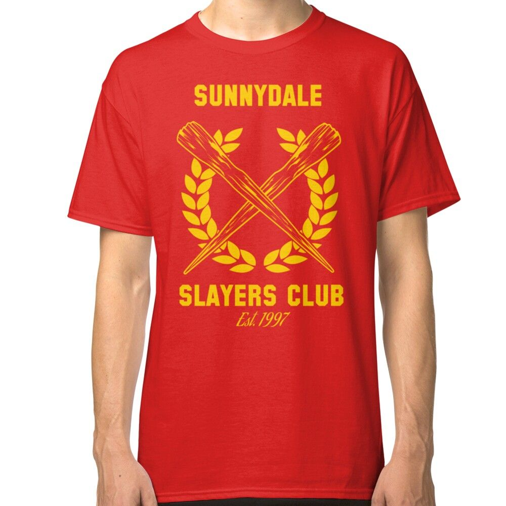 Sunnydale Slayers Club Classic T Shirt By Stuffofkings Classic T Shirts T Shirt Shirt Designs