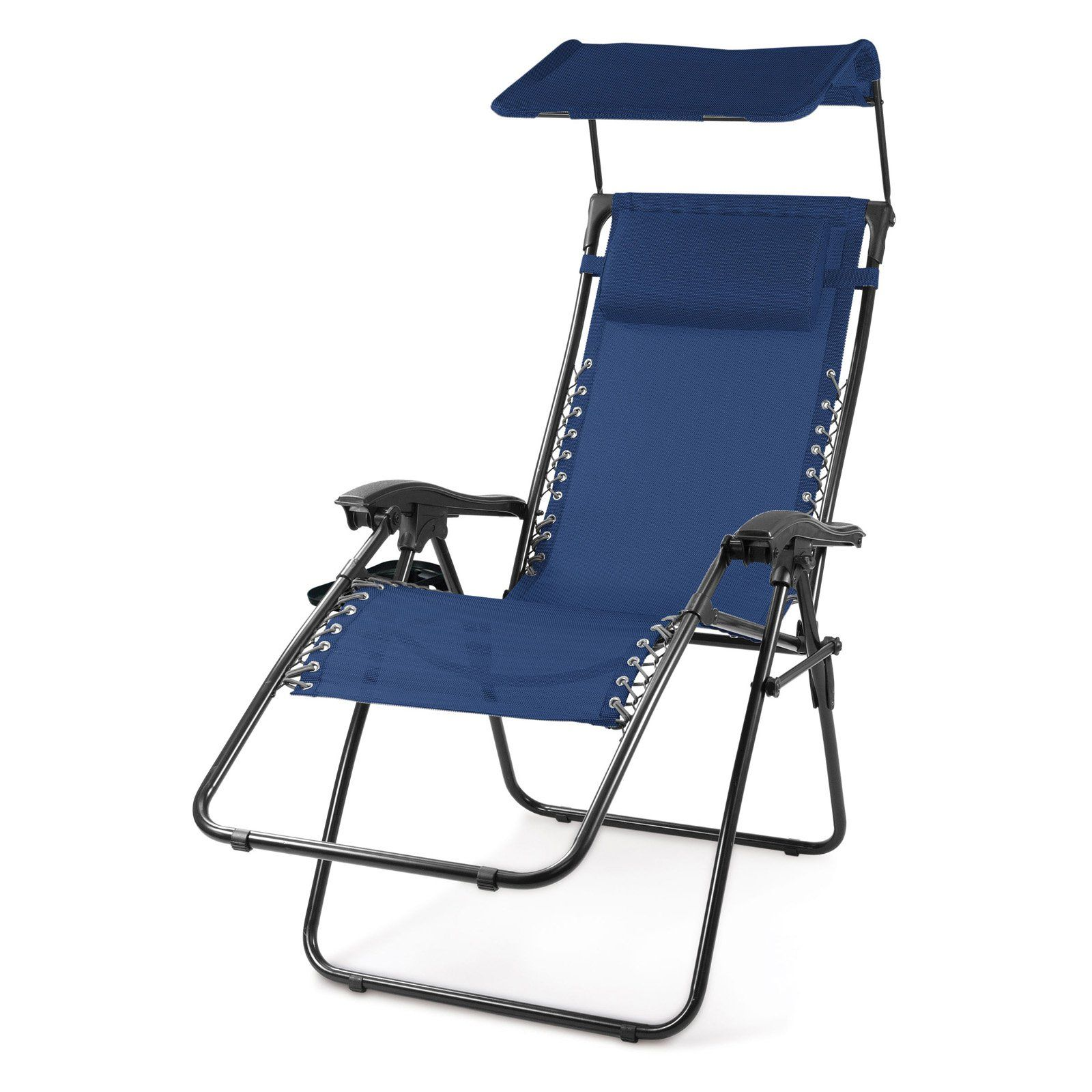 Outdoor Oniva Serenity Reclining Lawn Chair with Sunshade
