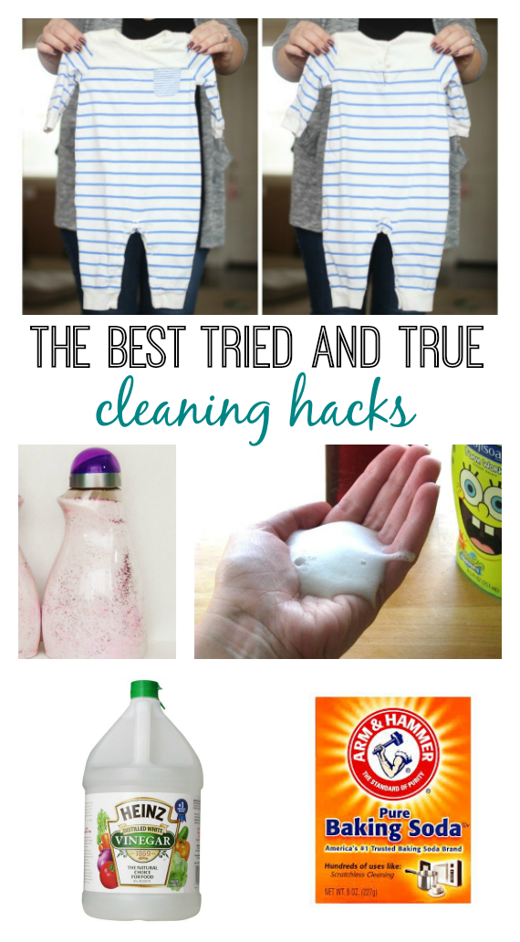 The Easiest Way To Remove Old Stains From Baby Clothing Treat Several Items At Once Even Set In Stain Vinegar Cleaning Homemade Stain Removers Cleaning Hacks
