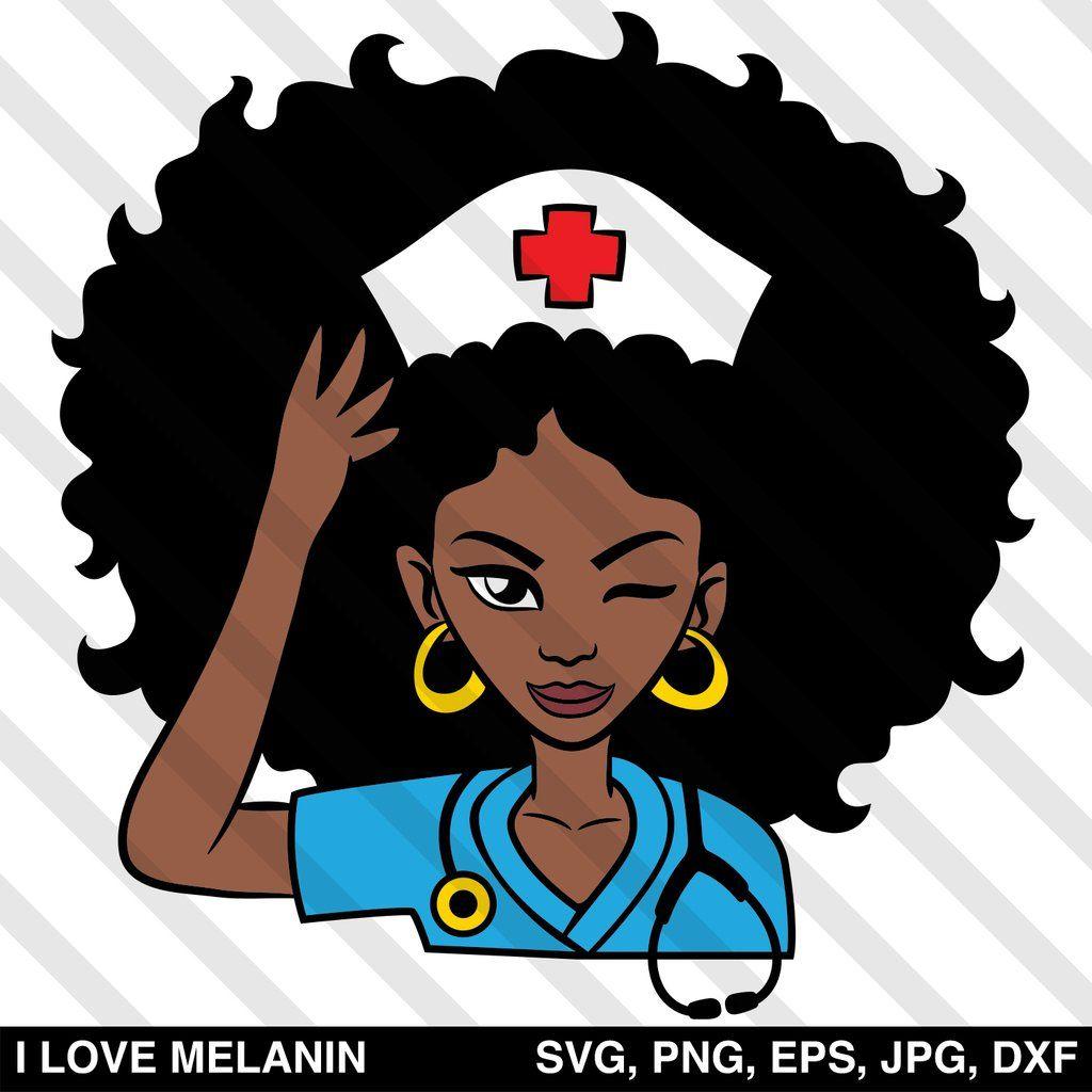 Afro Woman Doctor Nurse Svg Nurse Art Afro Women African