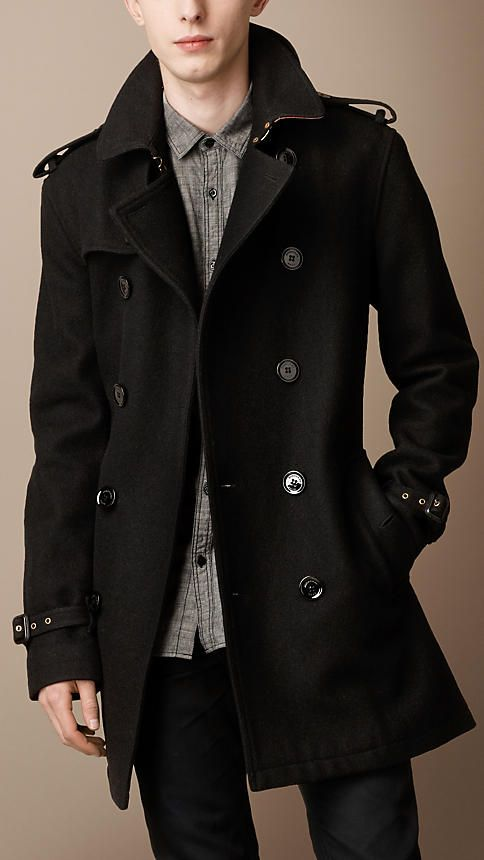 Mid-Length Wool Blend Trench Coat   Burberry nice warm coat for in the  winter  -) 133e81813b1