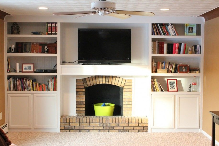 Family Room Bookcase Ideas Part - 50: Fireplace Makeover Ideas For New Fireplace Look : First Class Fireplace  Makeover-like Shelves And Cabints