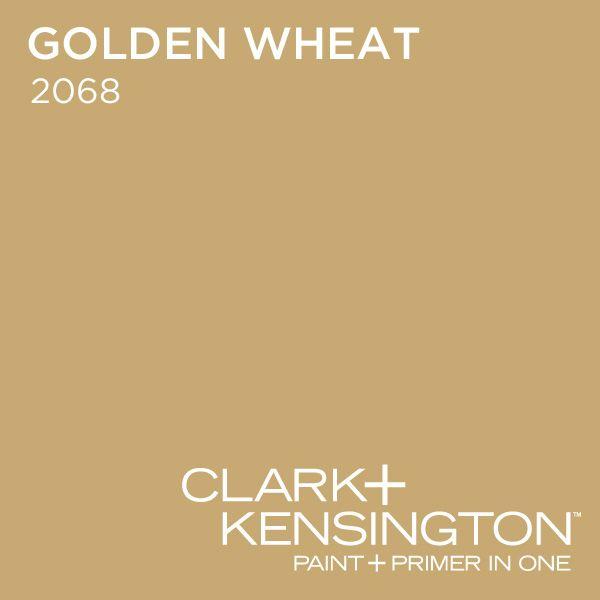 Living Room Golden Wheat Paint Color