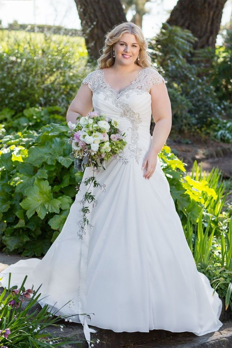 Plus Size Lace & Applique Wedding Dress Available up to