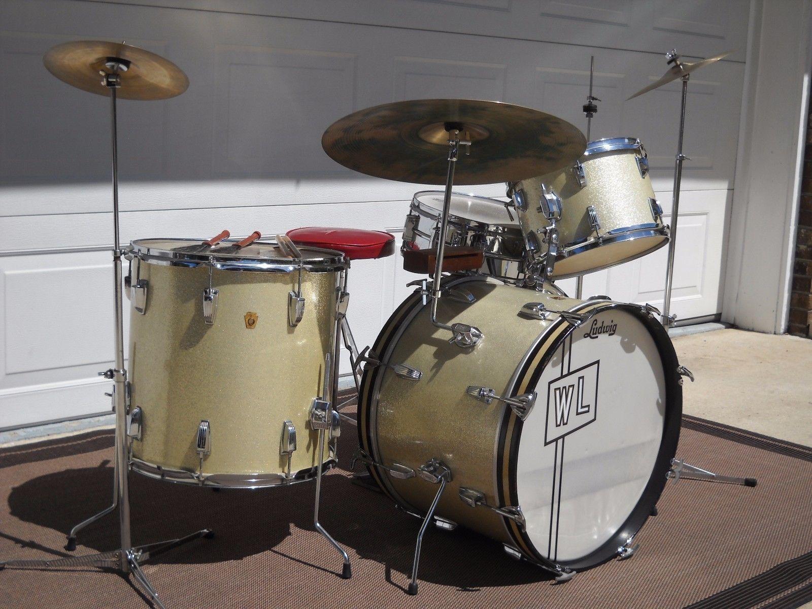VINTAGE 1966 LUDWIG 4 Piece Drum Set LOOK AT THIS LISTING