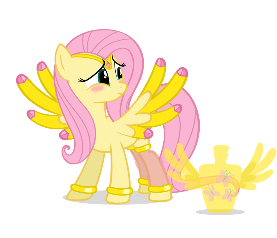 Genie Fluttershy by *NavitasErusSirus on deviantART <- D'aaaw! Fluttershy always seems to be the cutest one...