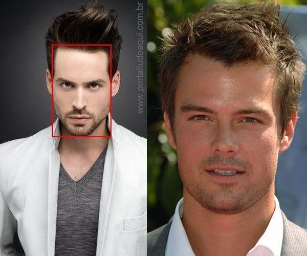 Entenda como escolher um corte de cabelo masculino que combine com seu tipo  de rosto a ainda veja sugestões de cortes e penteados para cada formato. 2892a1f471