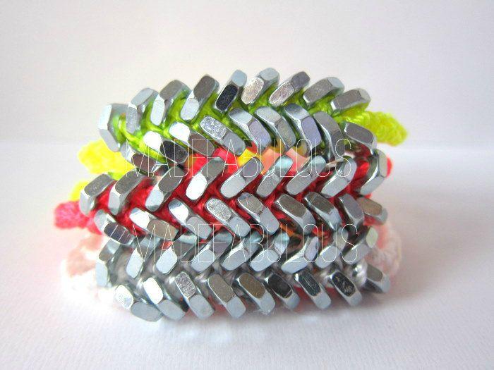 Neon Hex Nut Bracelet