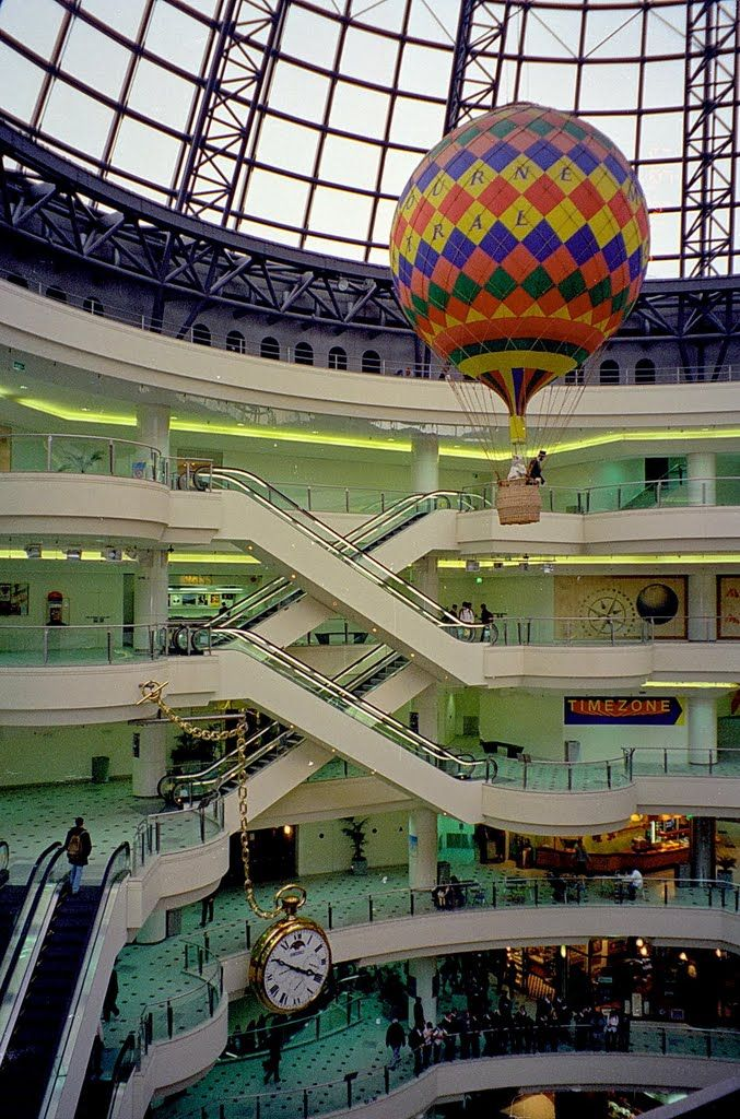 The Melbourne Central Dome and Hot Air Balloon Places in