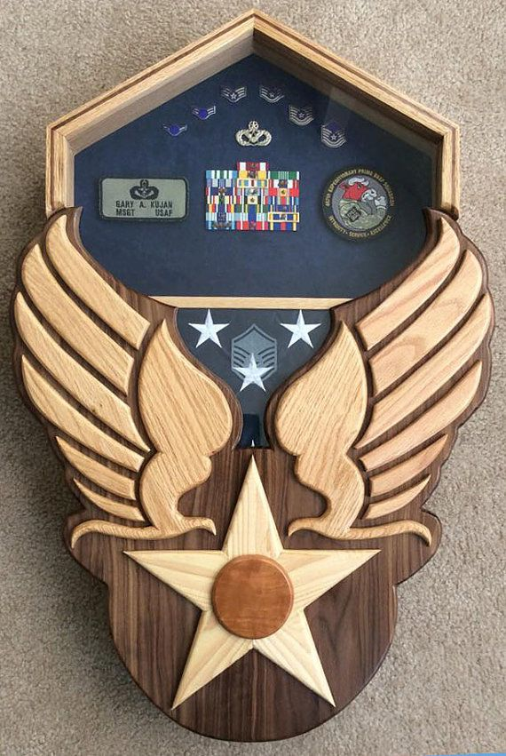 Air Force Heritage Shadow Box Hap Arnold Wings