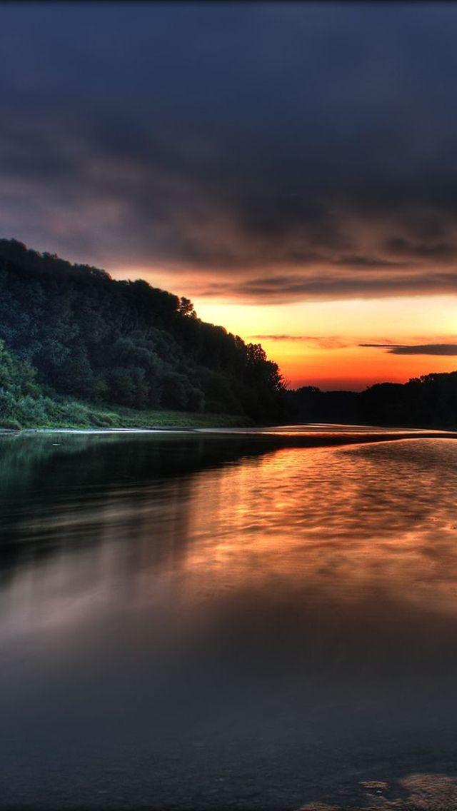 Lake Sky Iphone Wallpapers Nature Scenes Sunrise Beautiful Sunset