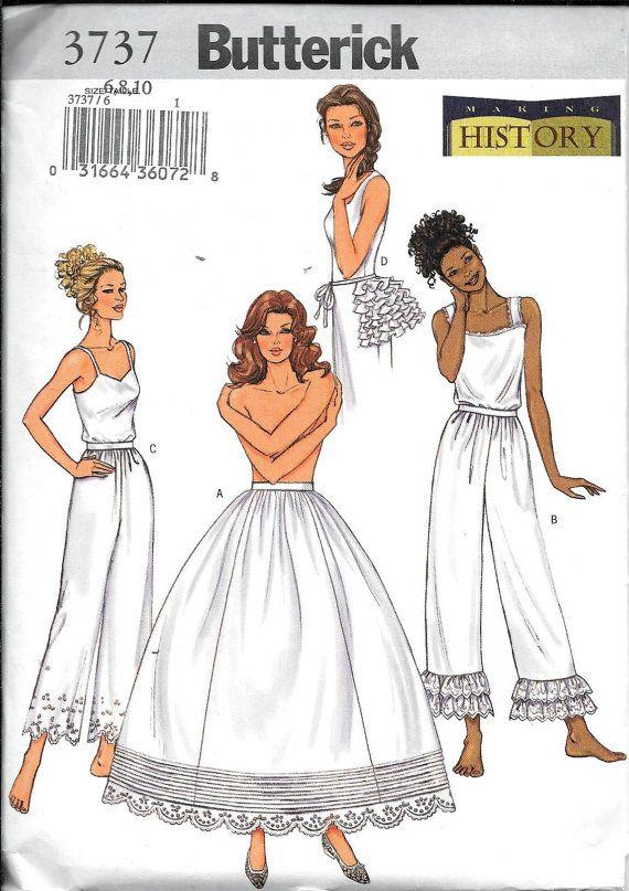 Butterick 3737 Making History Petticoat Pants Bustle Costume | Sew ...