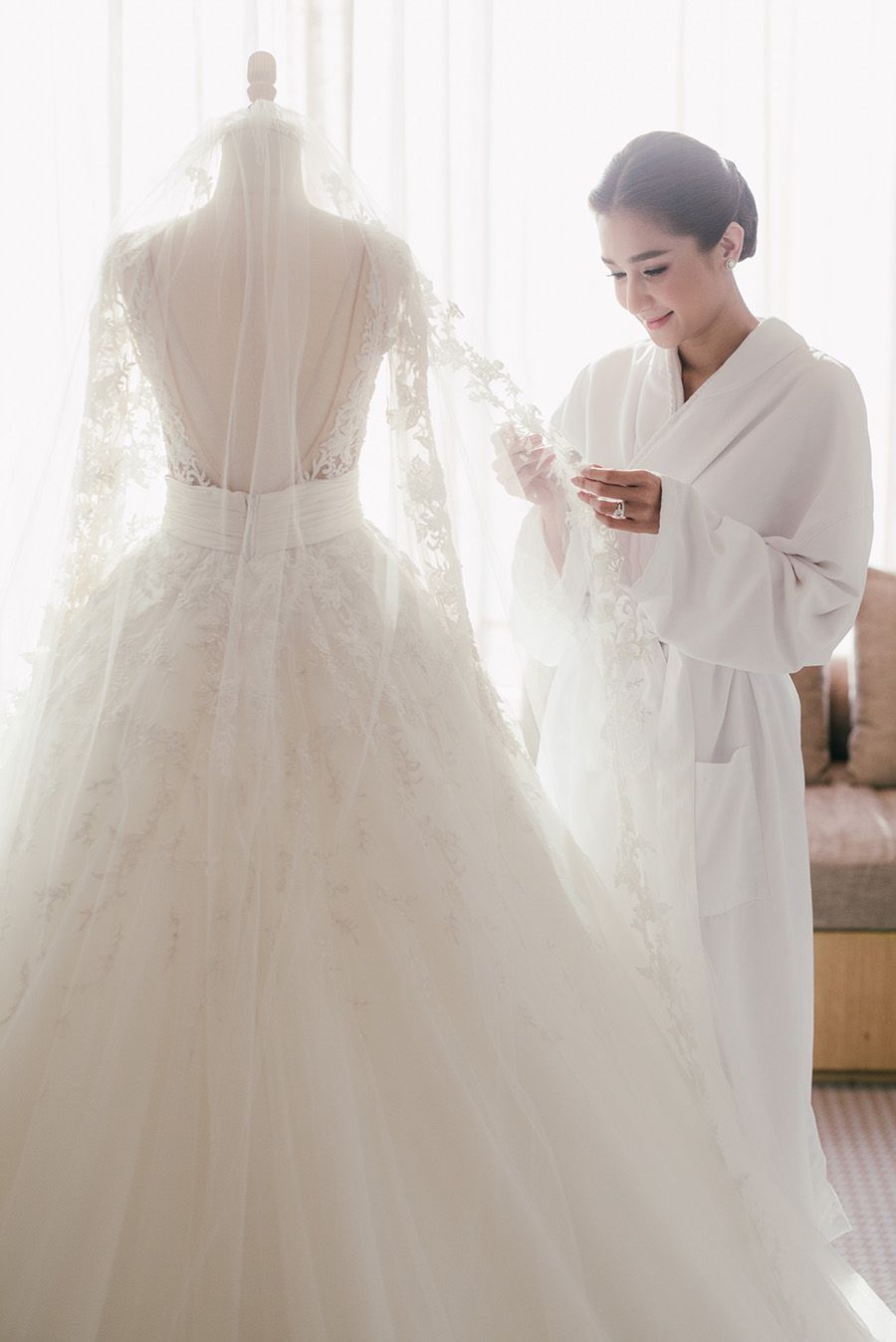 "Thai actress Noey Chotika and her love Arm Maneechy tied the knot in a  luxurious ""Lily of the Rocky Valley""-themed wedding in September last year  at Grand ... fd4a29f0f29"