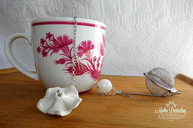 Pink, pink, pink! Hand painted porcelain, Muhu Portselan