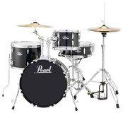 Pearl Drums - Roadshow 4-Piece Drum Set - Jet Black, DRSRS584CC31
