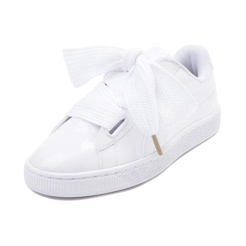 4ccd2be944e Womens Puma Basket Heart Patent Athletic Shoe