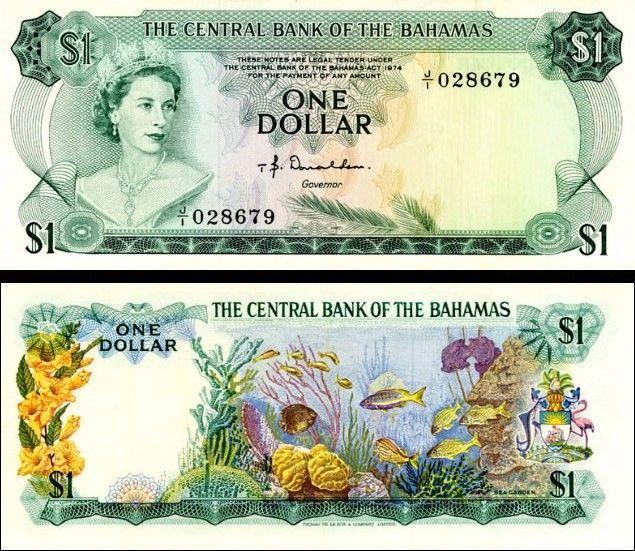 1 Dolár Bahamy 1974 P35a UNC