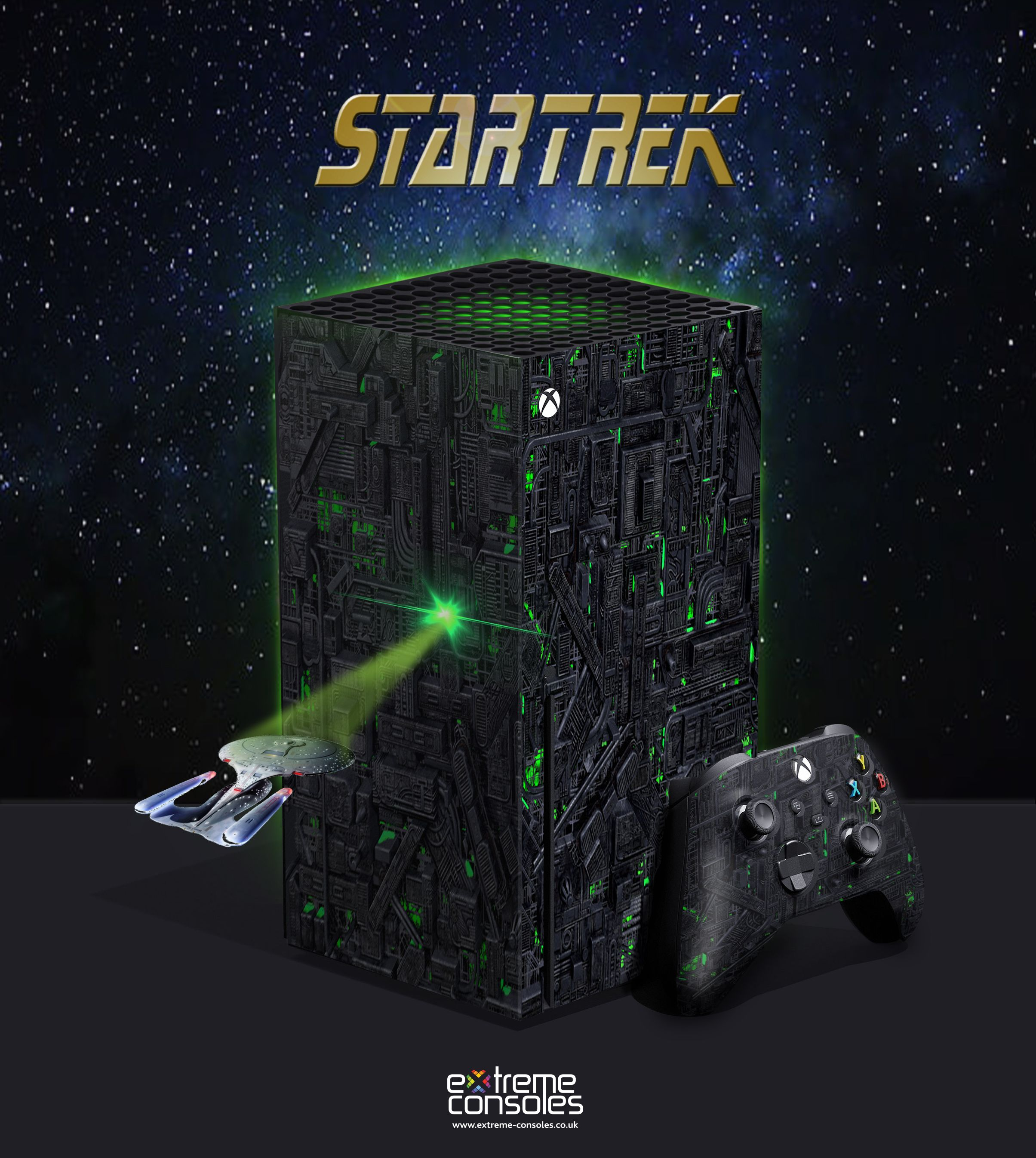 Custom Xbox Series X Star Trek Borg Xbox