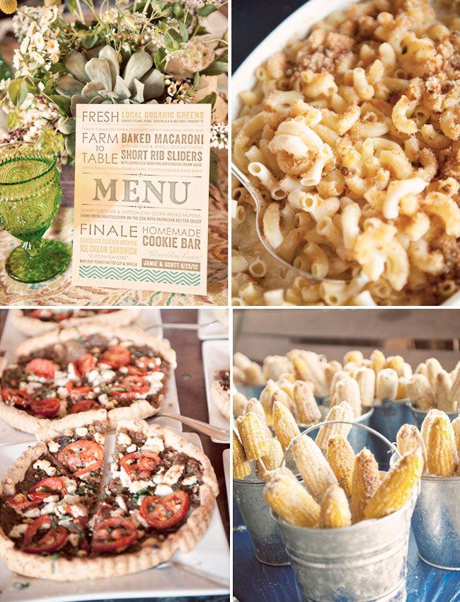 Country Western Wedding Jamie Scott Country Wedding Foods