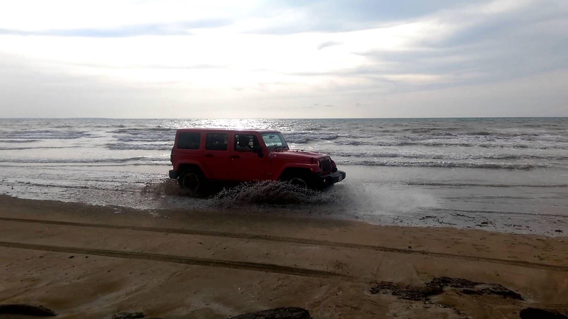 Beach Drive Fun With Jeep Wrangler At Gunn Point Nt Australia