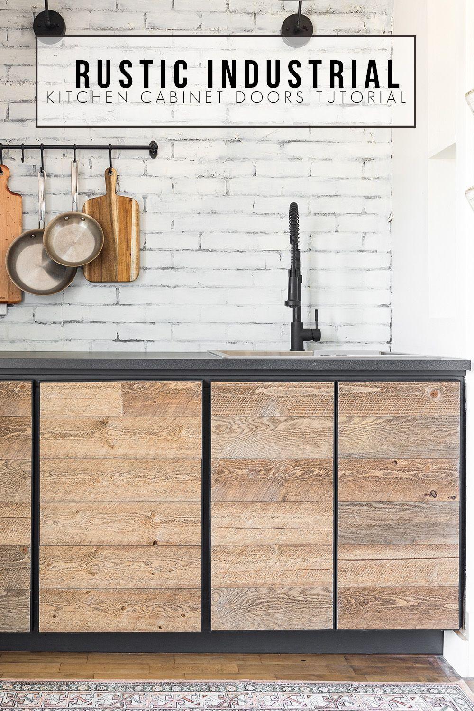 Diy Rustic Industrial Cabinet Doors Tutorial Cherished Bliss Diy Cabinet Doors Industrial Kitchen Industrial Cabinet