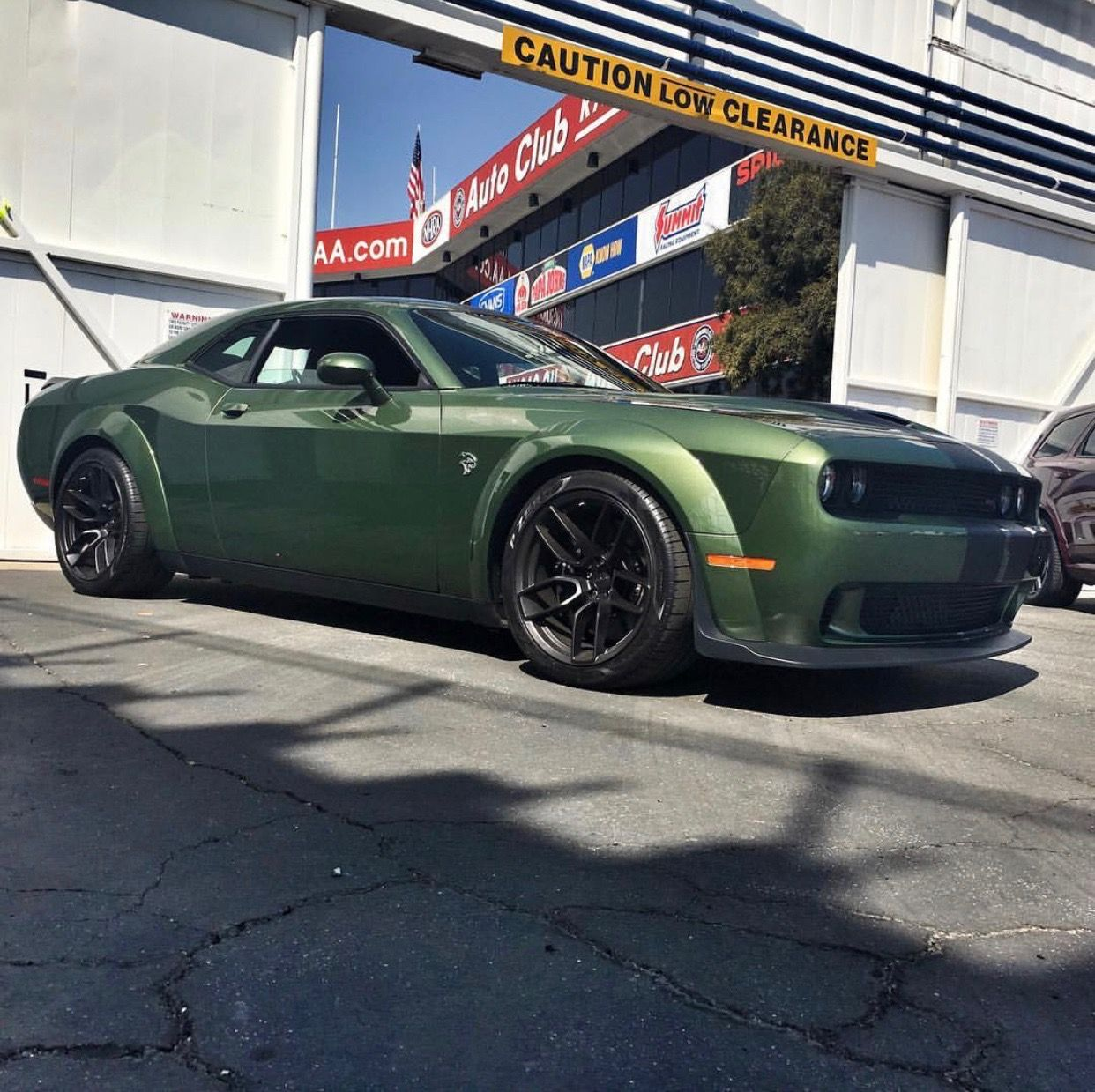 Dodge Challenger Srt Hellcat Widebody Painted In F8 Green W Black