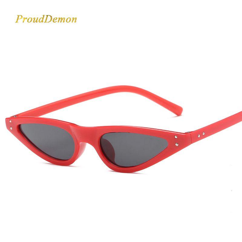 432824659c Prouddemon 2018 Fashion Water Drop Sunglasses Women Hot Sale Brand Designer  Cat Eye Rivet Eyewear Triangle Sun Glasses Female