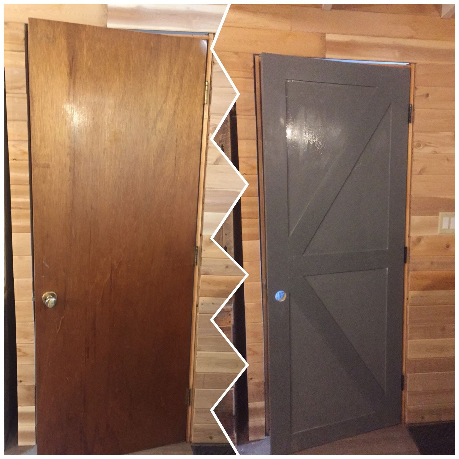 From Outdated Hollow Core To Barn Door Hollow Door Makeover Barn Door Door Makeover Diy