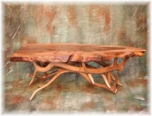 Elk Antler Coffee Table With Walnut Slab Top Love Natural Wood