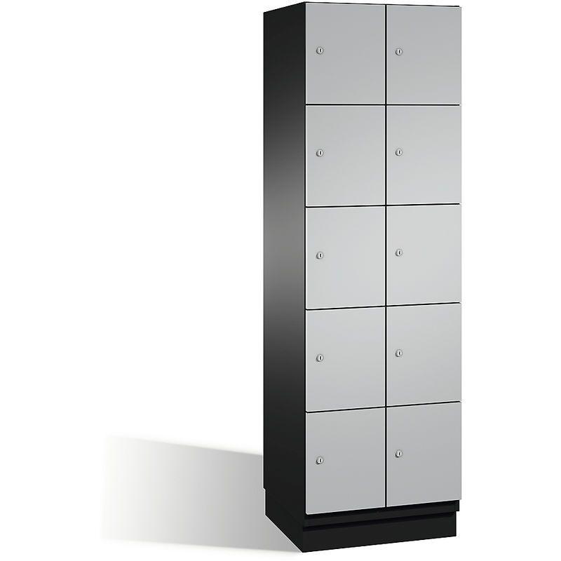 CP Armoire à casiers CAMBIO avec portes en acier – 10 casier…