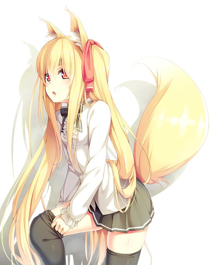 Cute girl with fox tail exist? think
