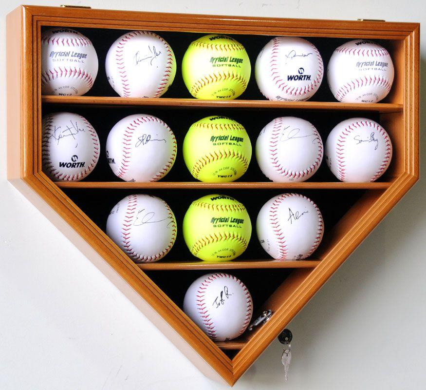 14 Softball Display Case Cabinet Rack Holder Stand Box Softball Decorations Display Case Softball Bedroom
