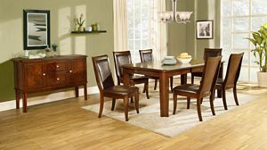 Wolfe Casual Rectangular Medium Brown Dining Table