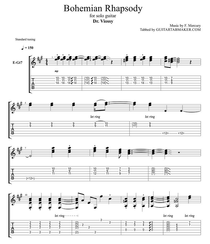 bohemian rhapsody fingerstyle guitar tab pdf guitar sheet music guitar pro tab download. Black Bedroom Furniture Sets. Home Design Ideas