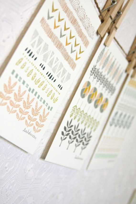 Circles Lines and Shapes Print Set 5 x 7 by leahduncan on Etsy, $24.00