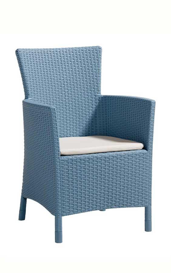 Blauer Gartenstuhl | Gartenstühle in bunten Farben | Allibert Iowa ...