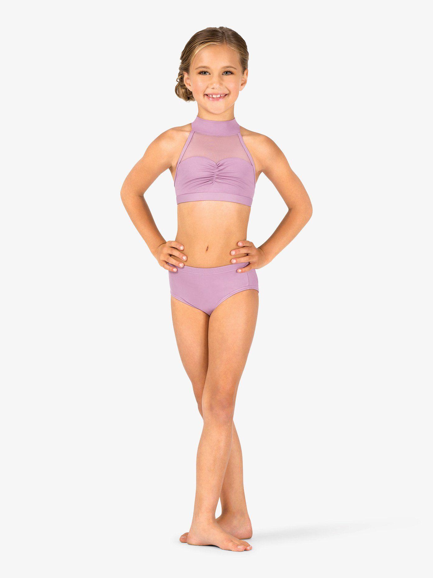 Child Sweetheart Halter Dance Bra Top