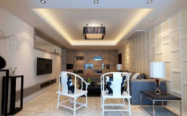indirekte beleuchtung wohnzimmer deckenbeleuchtung schöne texturen - beleuchtung wohnzimmer ideen