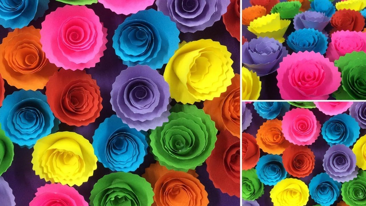 How To Make Beautiful Paper Rose Flower Making Paper Flowers Diy