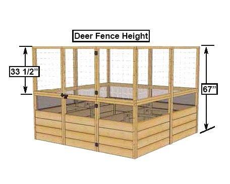 Deer Proof Cedar Complete Raised Garden Bed Kit - 8' x 8 ...
